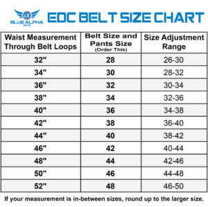 Belt Size Chart